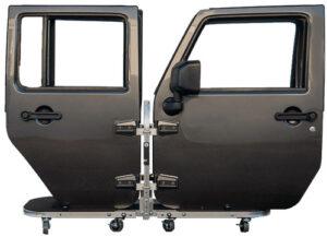 Holds 4 Jeep Doors on Jeep Door Storage Cart